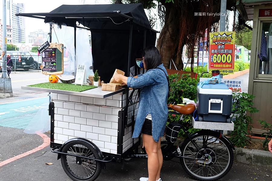 三重小吃 | Thai Pandan Cake。限時不到2hr就完售,想吃完全憑運氣,神祕泰式點心流浪攤車出沒街頭! @蹦啾♥謝蘿莉 La vie heureuse